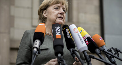 Merkel continues attempt to form three-way coalition
