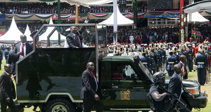 After two elections, Kenyatta sworn in as Kenyan president