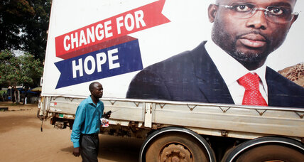 Former soccer star George Weah claims win in Liberia presidential election