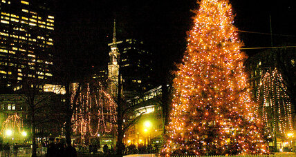 In Boston, a Christmas tree symbolizes a cross-border friendship