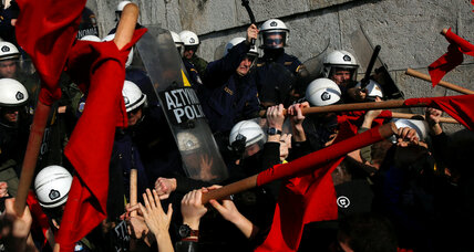 Greece's new restrictions on the right to strike leads thousands to protest