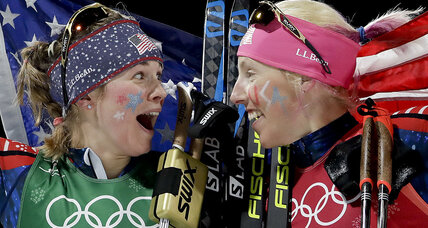 US women win historic Olympic gold in cross-country skiing