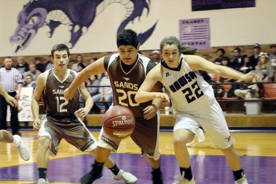 cb33819cb59 In a small west Texas high school, boys and girls join to form one  basketball team