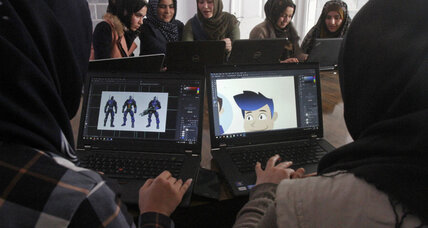 Female Afghan coders break gender barriers in fight against opium