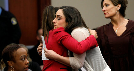 College gymnastics meet offers hope, support in wake of Nassar abuse