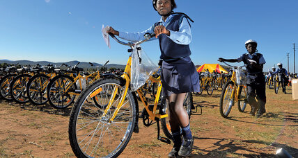 Meanwhile... in Ga-Molepo, South Africa, local entrepreneur Jeffrey Mulaudzi is bringing bike-sharing to students