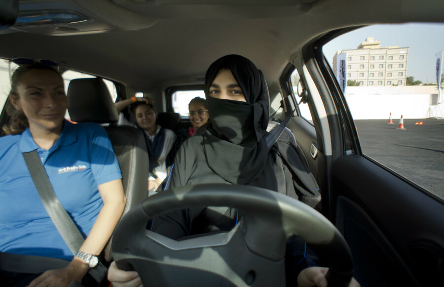 Behind The Wheel >> Saudi Arabia S Women Test Newfound Freedom Behind The Wheel