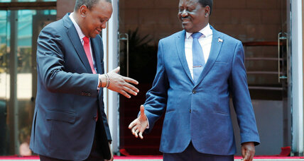 Kenya's president and opposition leader promise to unite country