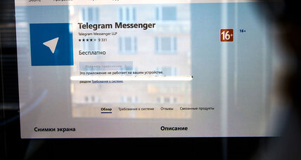 Kremlin cyberpower? How fight over messaging app is showing its limits.