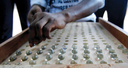 Meanwhile in ... Gambia, voters will vote using glass marbles for the last time