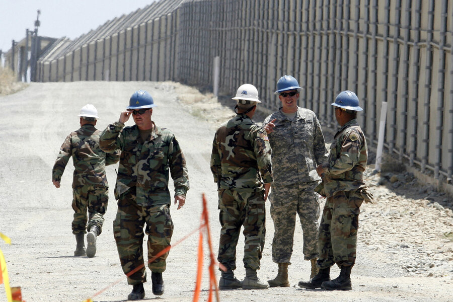 Image result for photos of military at US SOUTHERN BORDER
