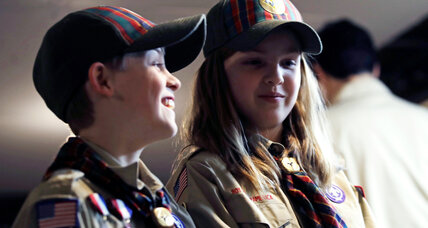 Girls receive warm welcome in introduction to Cub Scouts