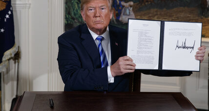 Trump's 'diplomatic vandalism' on the Iran nuclear deal, Trump's nuclear deal move hurts America's reputation, Putin's pushy foreign policy may not...