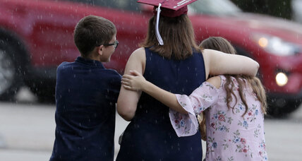 Parkland students and family members walk the stage on graduation day