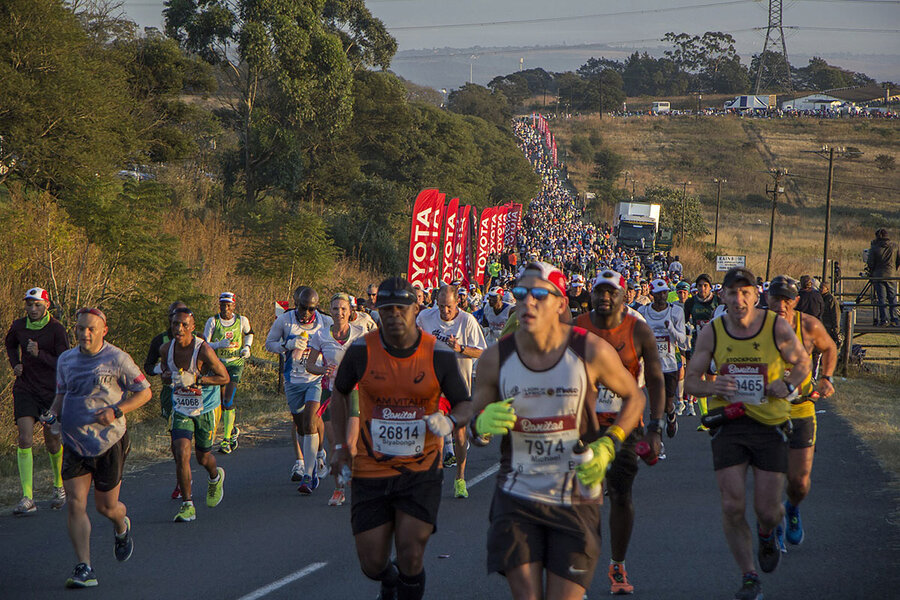South Africa's unlikely ultramarathoner helps others cross the