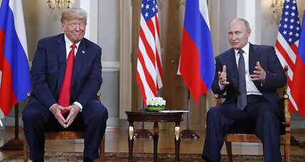 Giving Putin a pass on vote meddling, Trump widens rifts back in US