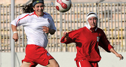 Meanwhile in ... Iran, women's soccer is making progress moving toward the 2022 Olympics in Beijing