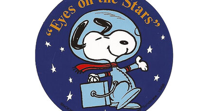 Snoopy spurs kids to shoot for the moon