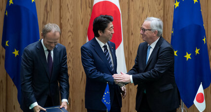 Japan, EU aim to counter US protectionism with free trade deal