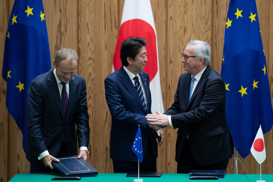 Japan Eu Aim To Counter Us Protectionism With Free Trade Deal