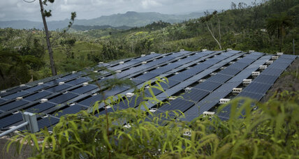 After hurricane, Puerto Rico switches on to renewable energy