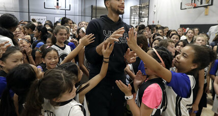 NBA star Steph Curry hosts all-girls basketball camp