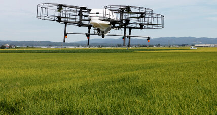 As Japan's farmers age, drones help with heavy lifting