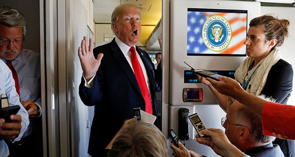 All the president's seatmates: two days with Trump on Air Force One
