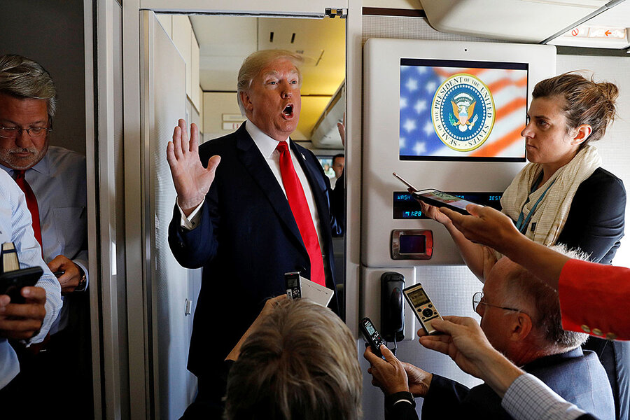 297e29e4a All the president's seatmates: two days with Trump on Air Force One ...