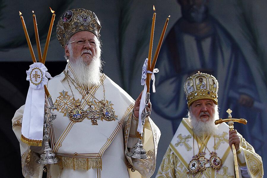 Image result for patriarch kirill patriarch bartholomew weir