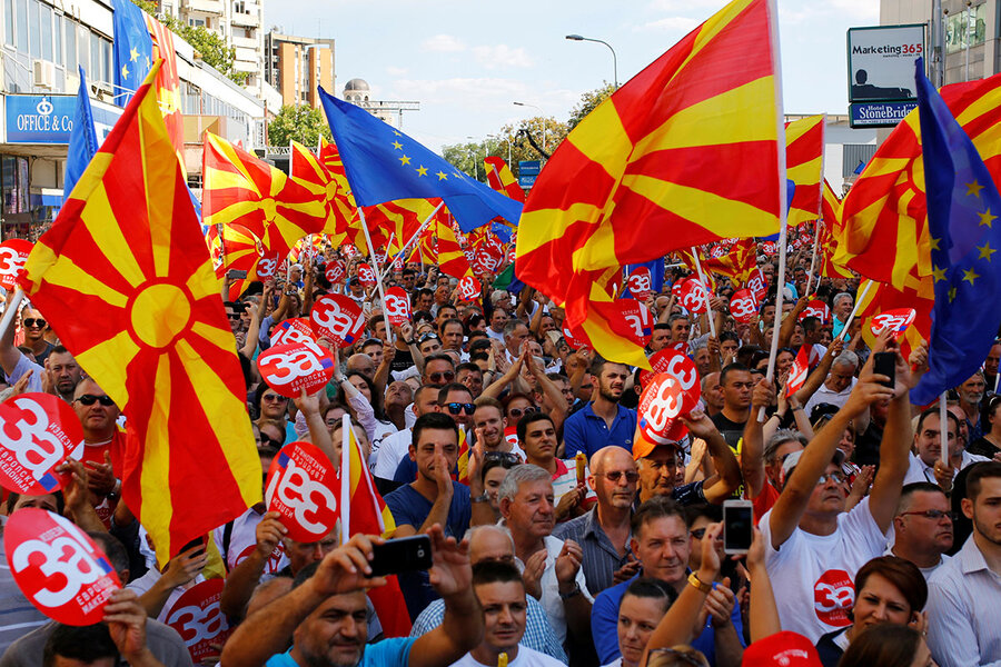 macedonians vote on their country s name will they follow heart or