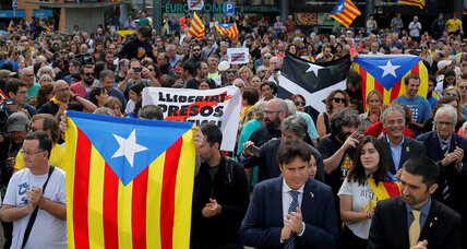 One year after vote, Catalan separatists demand action