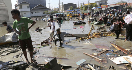 Rescue efforts under way as Indonesian tsunami claims more than 800 lives
