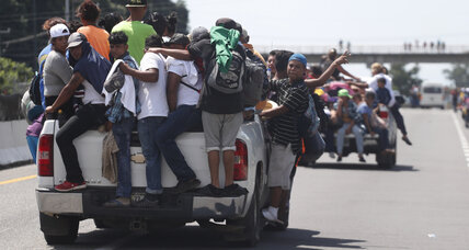 Migrant caravan, increasing in size, treks north through Mexico