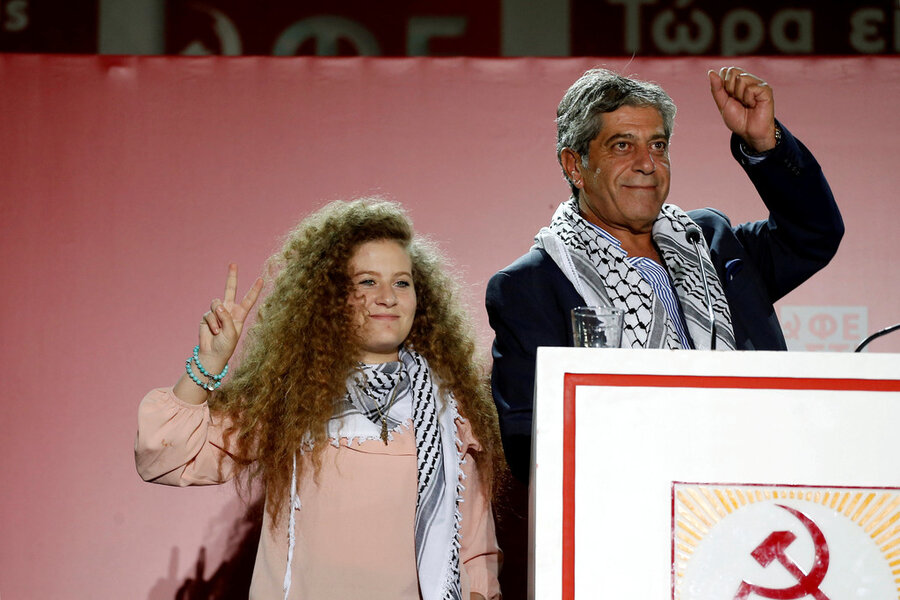 Palestinian activist, Ahed Tamimi, takes her cause abroad