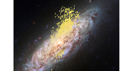 Galactic collision ripples across eons to shape our view of the cosmos