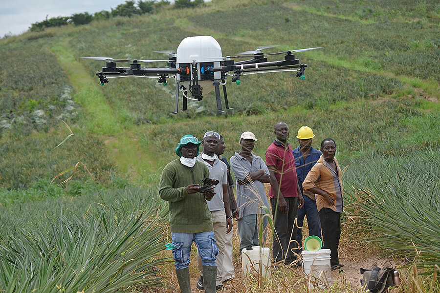 Fertilize by drone, till by text: Making tech work for