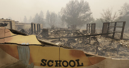 After California wildfire, students ready for a return to school, routine