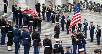 People from all walks of life gather to honor George H.W. Bush