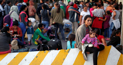 As new 'caravan' enters Mexico, a different welcome awaits