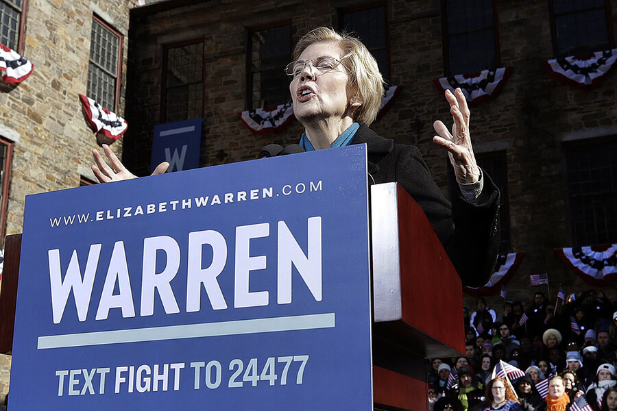 Nevertheless, Elizabeth Warren comes out swinging
