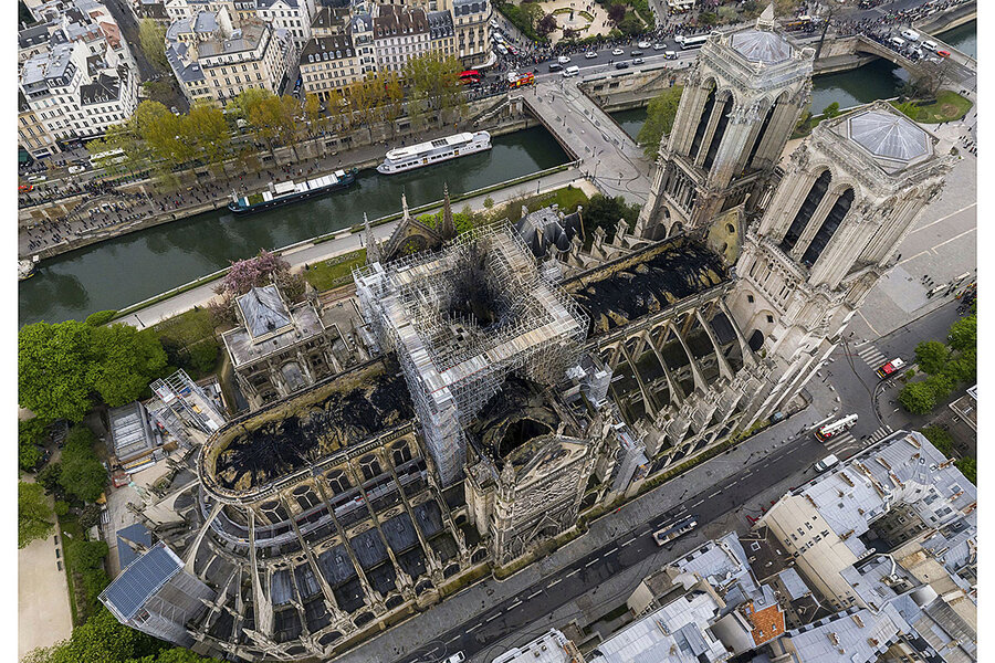 In Notre Dame fire, a reminder of history's complexity