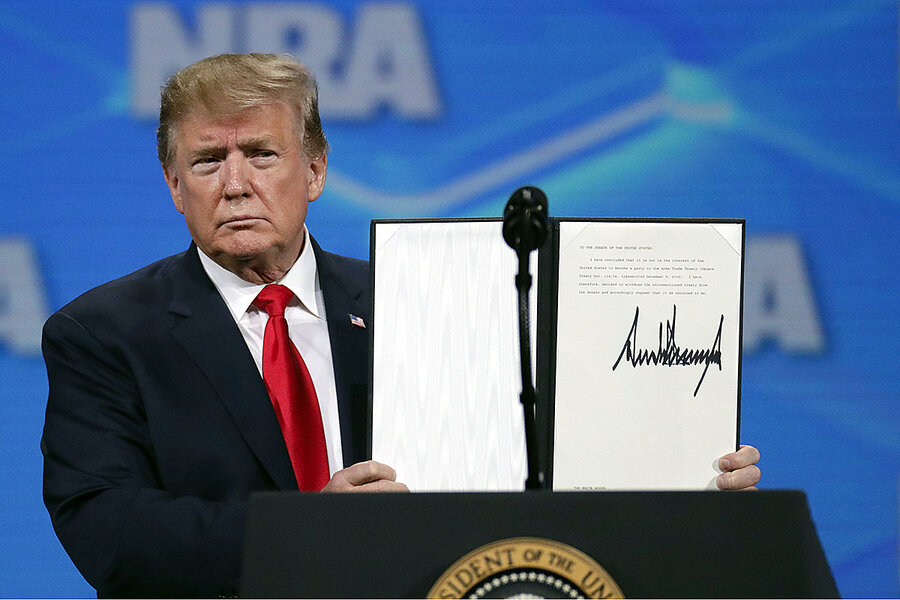 When Trump 'unsigned' arms treaty, it was about more than guns