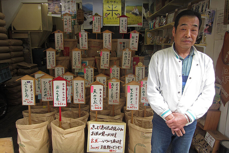 In Tokyo rice shop, loyalty to a sacred staple