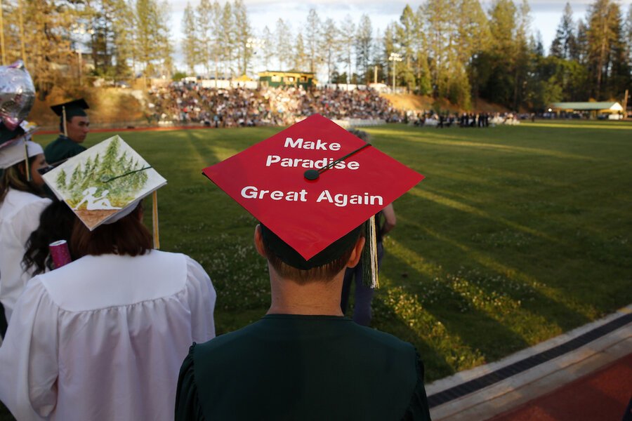 A high school graduation and a glimmer of hope in Paradise