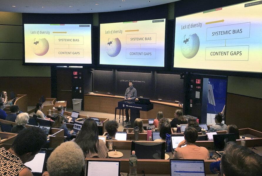 Yale volunteers work to close the Wiki gender gap