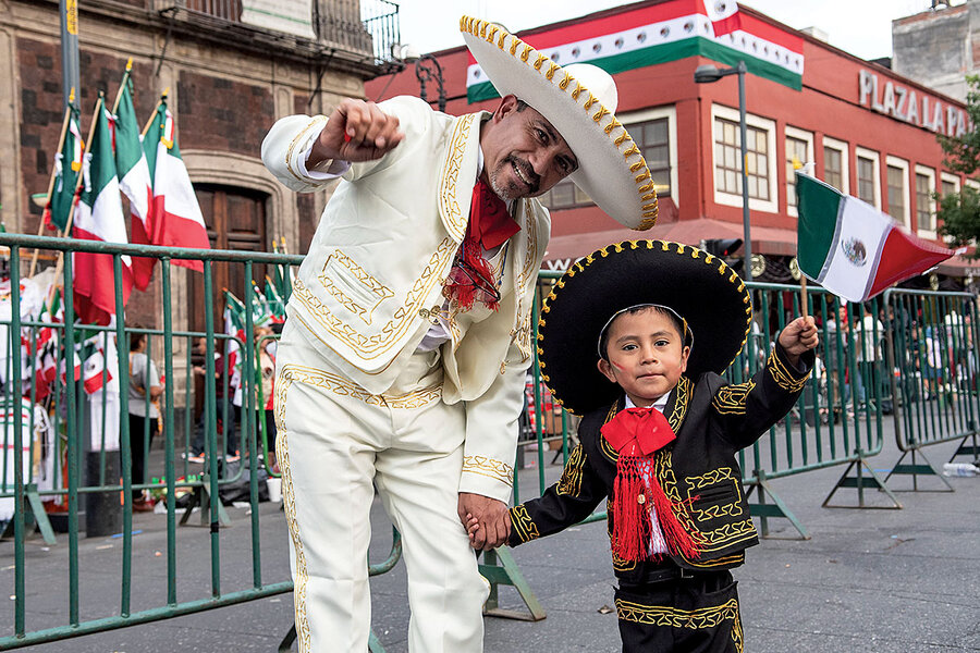 Viva Mexico Why More Mexicans Wrap Themselves In The Flag Csmonitor Com