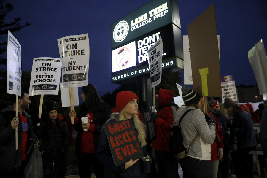 Chicago teachers strike over pay, class size, and prep time