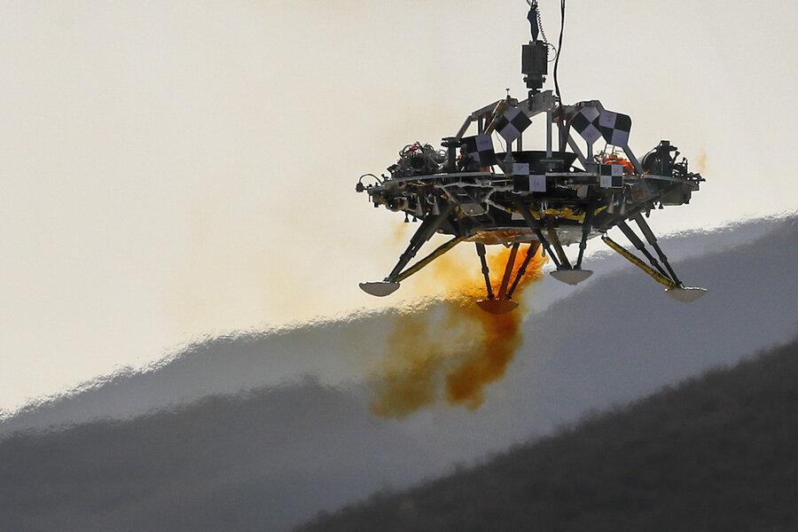 China, pushing space exploration, tests Mars lander