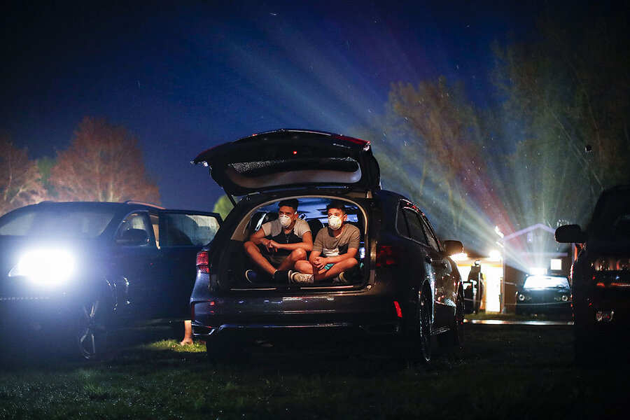 Pandemic, in park: Viewers pull up to drive-ins again